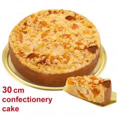 Grande torta di albicocche