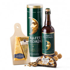 Set regalo Straffe Hendrik Tripel Beer e Wyngaard con formaggio olandese