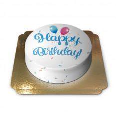 Torta di compleanno - blu (media)