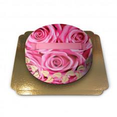 Torta decorata con rose (grande)