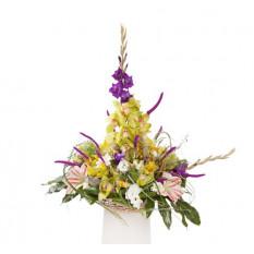 Accordo funebre giallo e viola