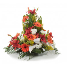 Orange Funeral Arrangement (Refined)